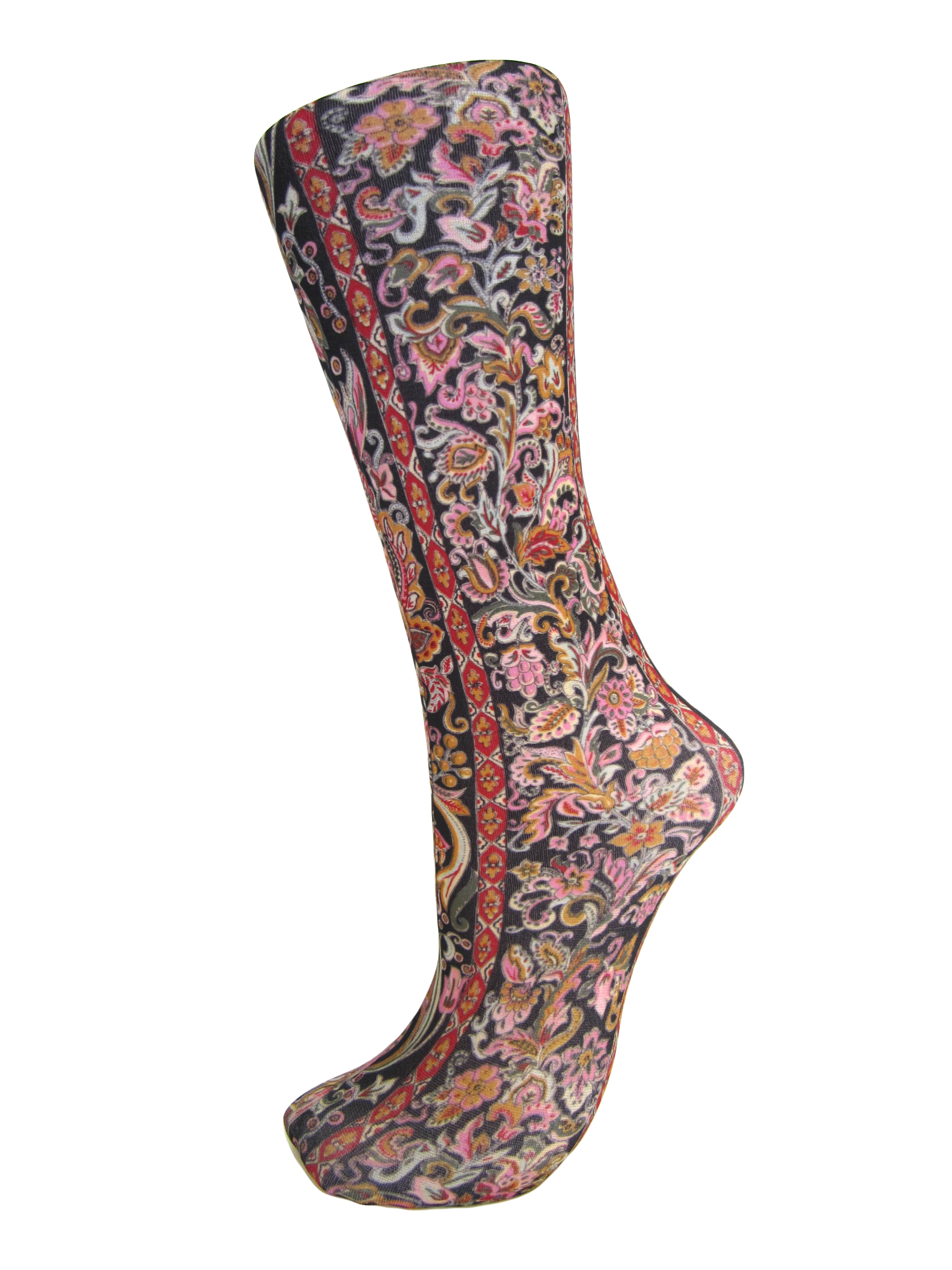Celeste Stein Black Versace Compression Socks