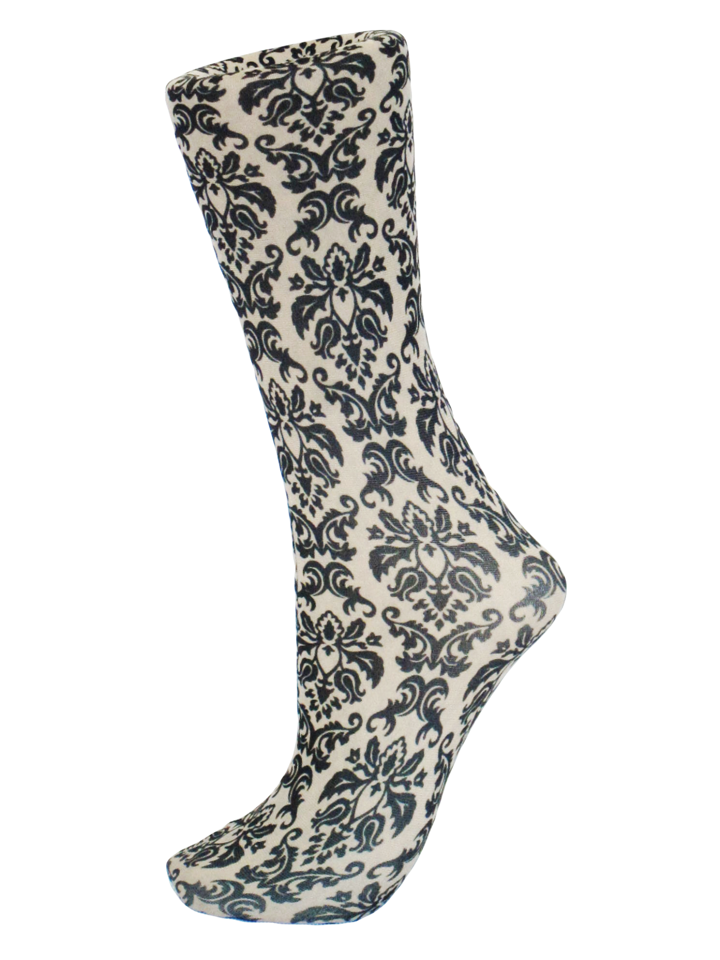 Celeste Stein Black on Tan Damsk Trouser Socks