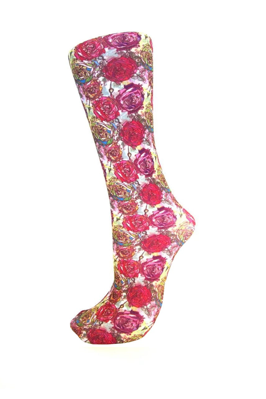 Celeste Stein Roses Compression Sock