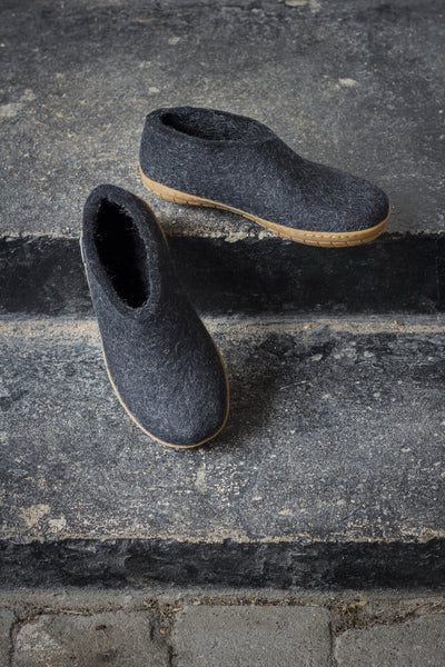 Glerups Shoe - Rubber Sole - Charcoal
