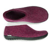 Glerups Shoe - Rubber Sole Black- Cranberry
