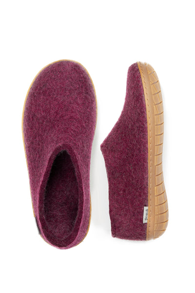 Glerups Shoe - Rubber Sole - Cranberry