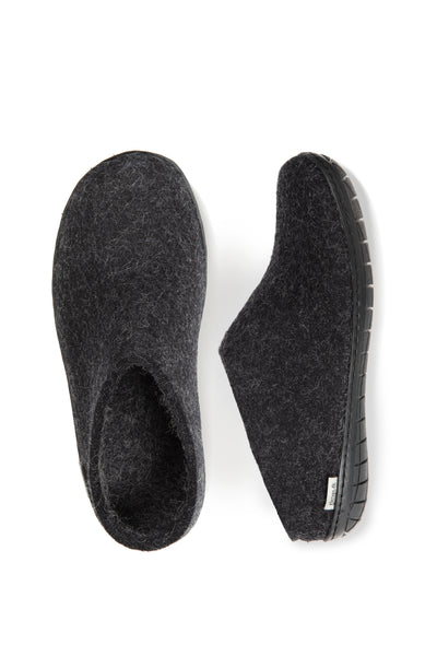 Glerups Slip on - Black Rubber Sole - Charcoal