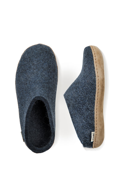 Glerups Slip on - Calfskin Sole - Denim