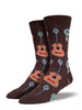 Socksmith Mens Sock Guitars Brown