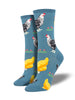 Socksmith Womens Socks Bock Bock Blue