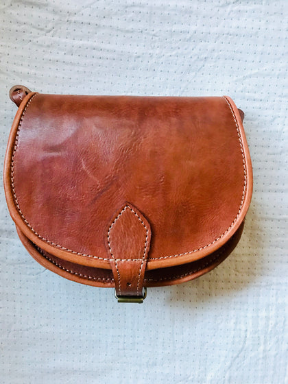 Bag Moroccan Handy Leather Tan  SOLD