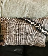 Load image into Gallery viewer, Cushion Black & White Moroccan Textured Cushion