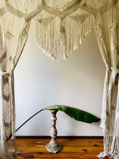 Curtain Macrame - SOLD New Stock On the Way