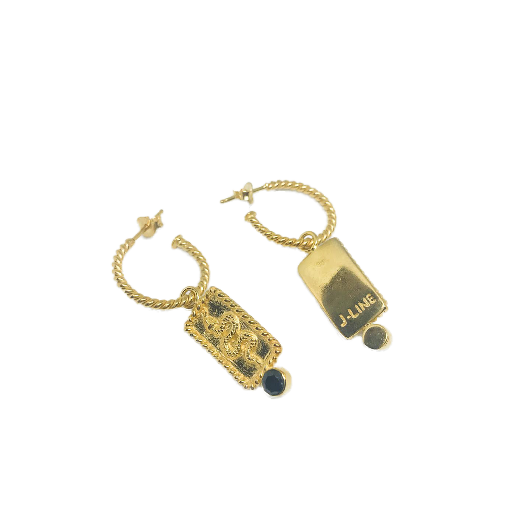 Serpent mini hoops - Gold