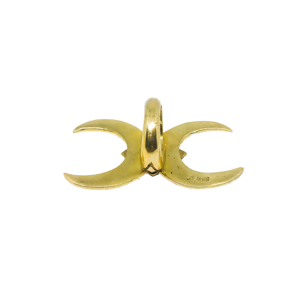 Two sides of the moon ring - Brass