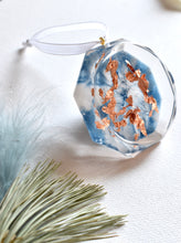 Load image into Gallery viewer, Blue & Gold Diamond Christmas Ornament | Bespoke Item