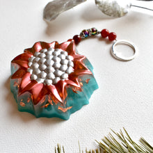 Load image into Gallery viewer, Sunflower Embossed Christmas Ornament | Bespoke Item