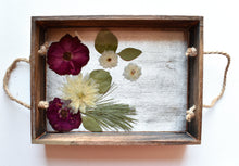Load image into Gallery viewer, Holiday Floral Decorative Tray | Bespoke Item