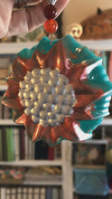 Load and play video in Gallery viewer, Sunflower Embossed Christmas Ornament | Bespoke Item