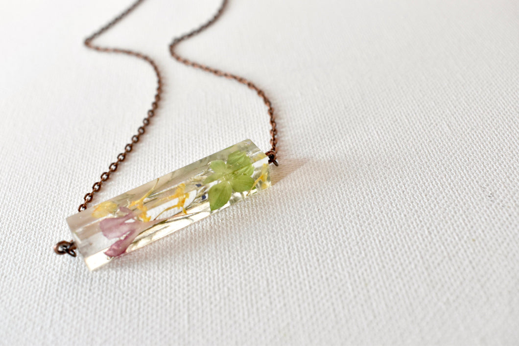 Dried Flower Necklace, Bar | Bespoke Item
