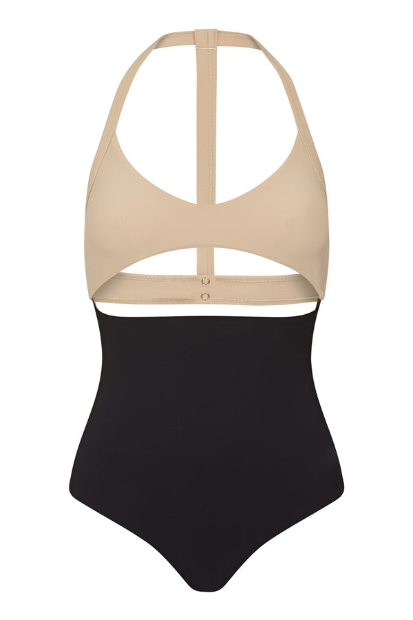 Arabella Swimsuit - Black and Nude