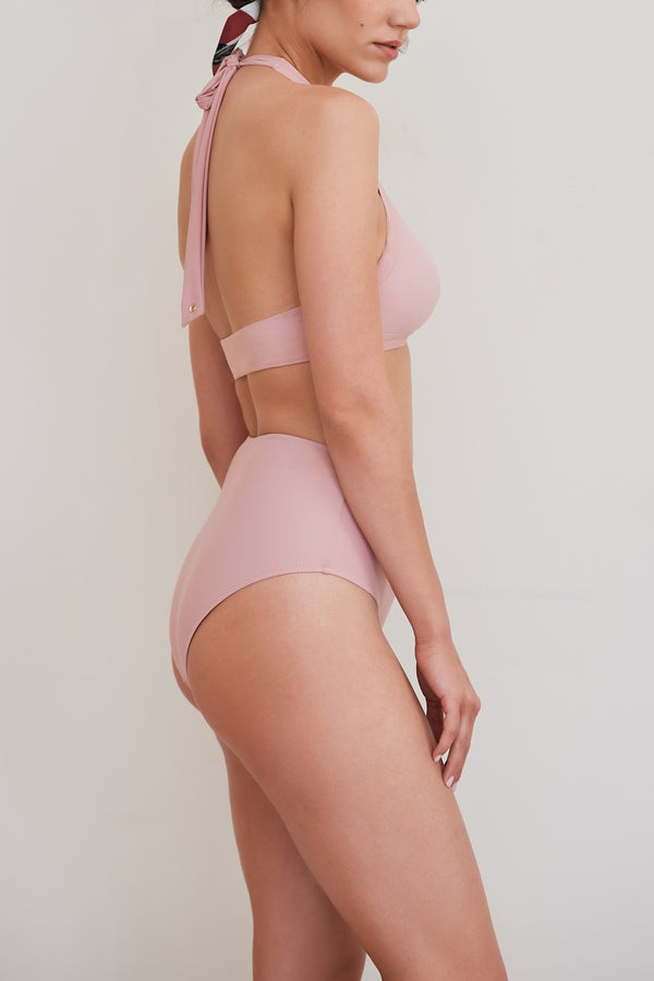 Circe High Waisted Briefs - Pink