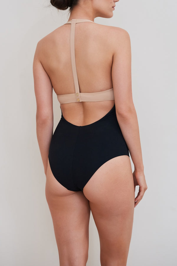 Arabella One Piece - Black and Nude