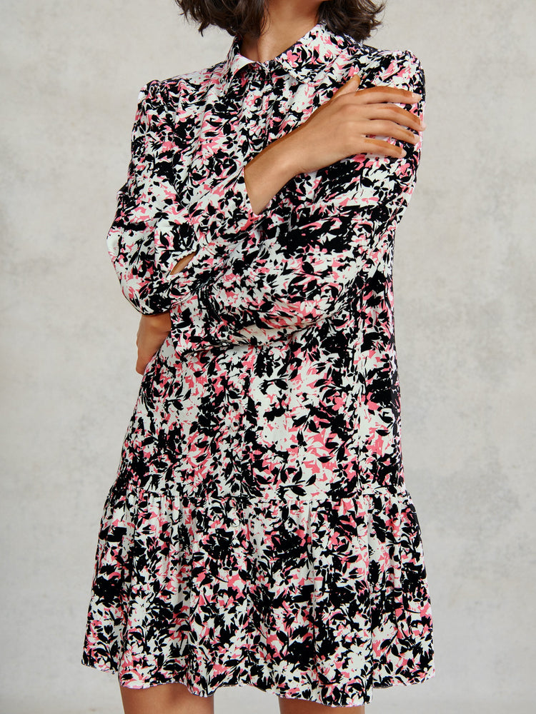 FSC Viscose Abstract Floral Print Shirt Dress