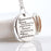 Hand Stamped English Bible Serenity Prayer Charm Pendant Necklace