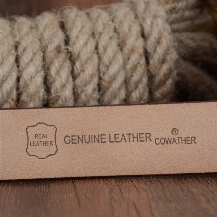Genuine leather designer belts for men