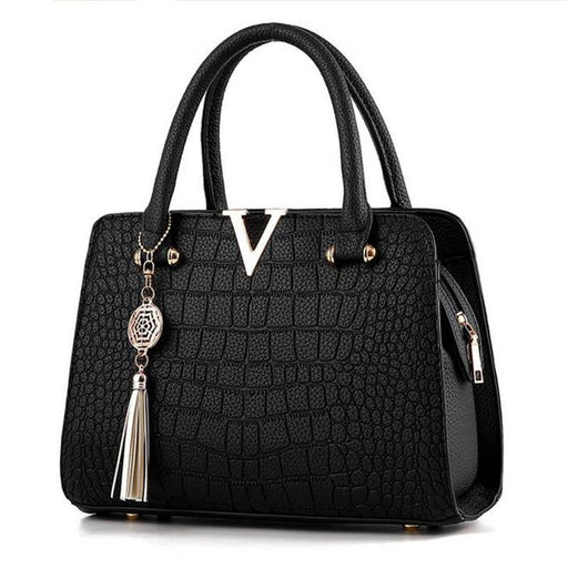 Crocodile leather V letters Designer Handbags