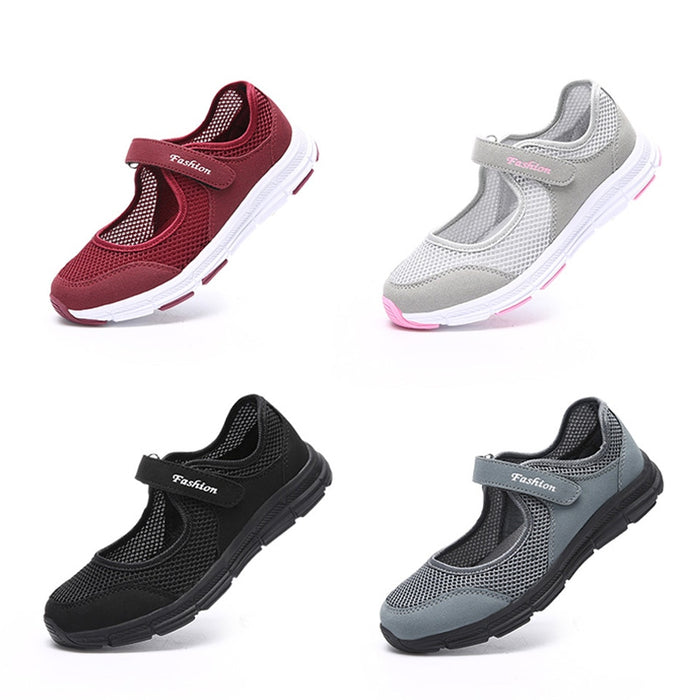 Mary Jane Female Ladies Mesh Fabric Breathable Casual Shoes