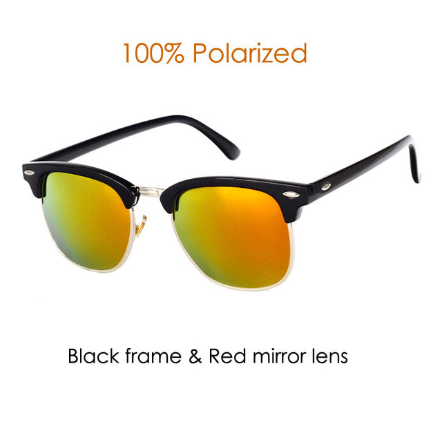 Half Metal Mirror Unisex  Sun Glasses