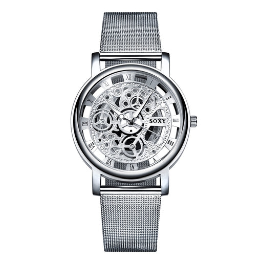 Simple Style Mesh Belt Men Unisex Quartz Watches