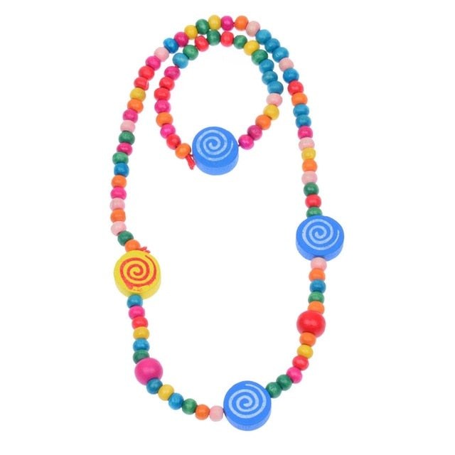 Multi Colored Wooden Accessories Sets Necklace