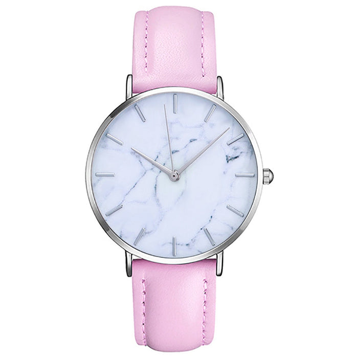 Simple Stylish Marble Dial Watch for Women