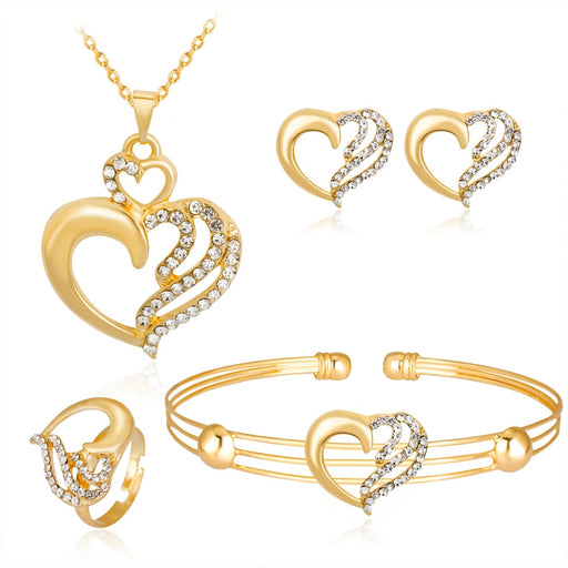 Classic Gold Color Girl Party Jewelry Sets