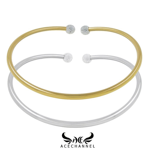 Stainless steel flexible choker necklace
