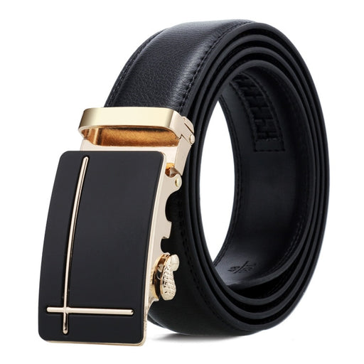 Automatic Genuine Leather Luxury Black Belt