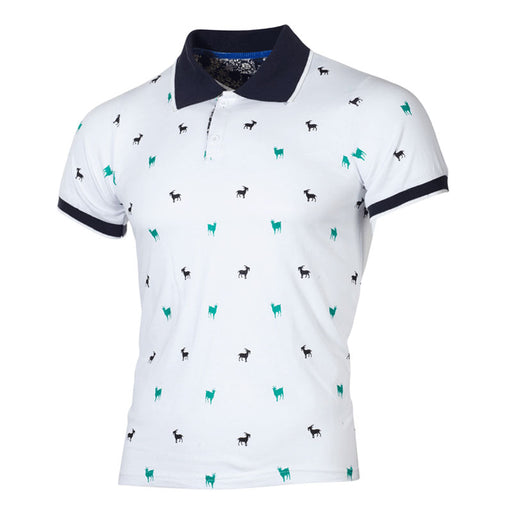 Business Top Male Goat Printed Brand Polo Shirt
