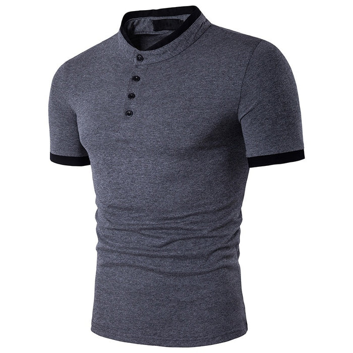 Short Sleeve Cool Cotton Slim Fit Men Polo Shirts