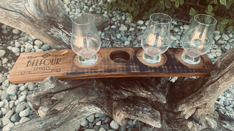 Barrel Stave Flight Tray