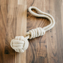 Load image into Gallery viewer, Dog Rope Tug Toy Natural Hemp Knotted Chewing Ball Flossy Tossy