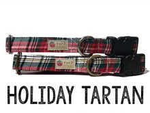 Load image into Gallery viewer, Holiday Tartan- Organic Cotton Dog Collar
