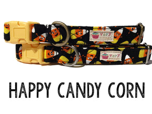 Happy Candy Corn – Organic Cotton Dog Collar