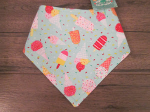 Mint Ice Cream – Snap On Bandana For Dog & Cat