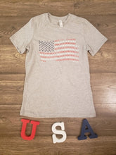 Load image into Gallery viewer, Patriotic Paw Print Flag T-Shirt