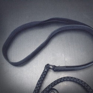 Black Dog Leash Ultra Durable 6' Long Nylon Paracord Survival Rope