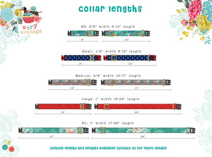 Holiday Tartan- Organic Cotton Dog Collar