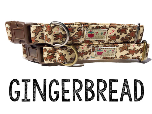 Gingerbread Men – Organic Cotton Dog Collar