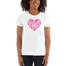 Load image into Gallery viewer, Paw Print Heart T-Shirt