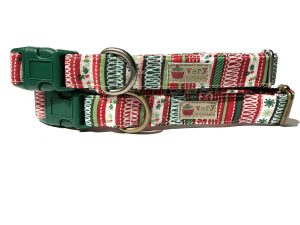 Ribbon Candy – Organic Cotton Dog Collar