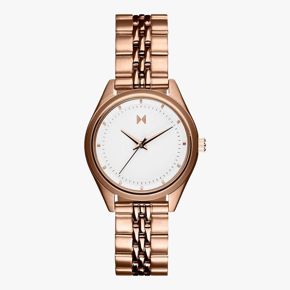 MVMT 28000081-D Mini Rise White Dial-Rose Gold Bracelet Damenuhr
