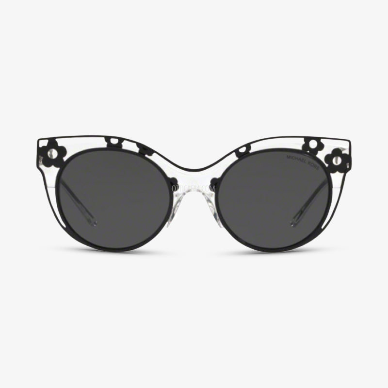MICHAEL KORS Damen Sonnenbrille MK1038 305087 52 Black Transparent